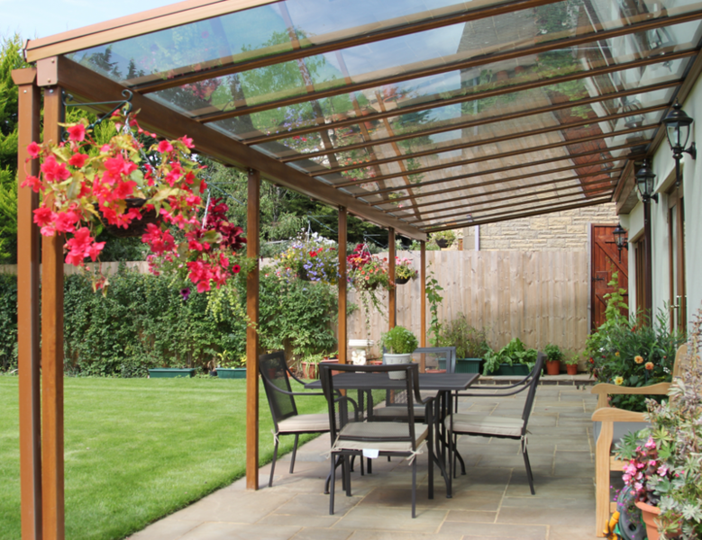 Delicieux The Nouveau Range Of Verandas Can Be Glazed With Either Crystal Clear  Polycarbonate Or Double Glazed Toughened Safety Glass And Is Available In  Our Full ...